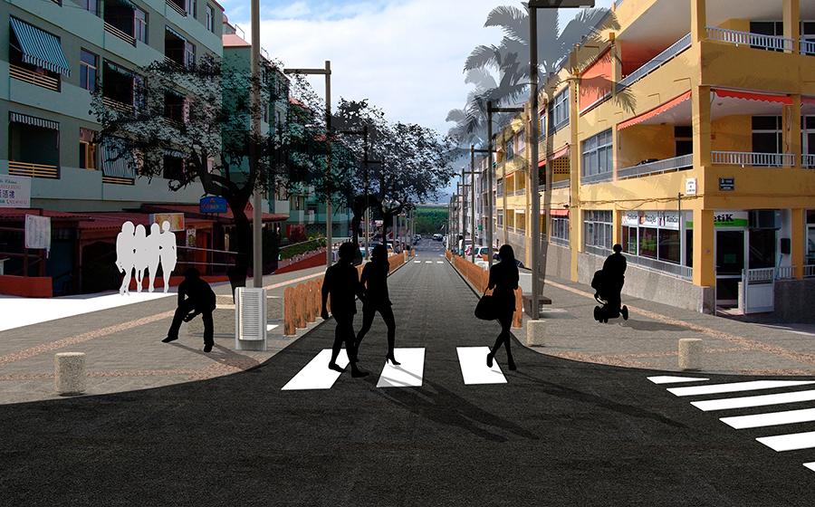 Remodelación de las principales calles de Puerto Naos