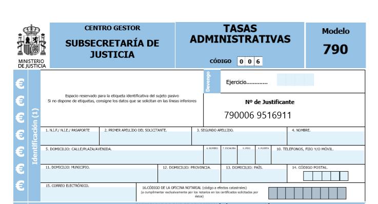 Certificado de últimas voluntades